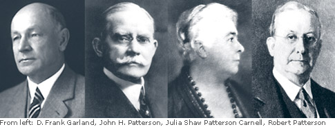 D. Frank Garland, John H. Patterson, Julia Shaw Patterson Carnell, Robert Patterson photos